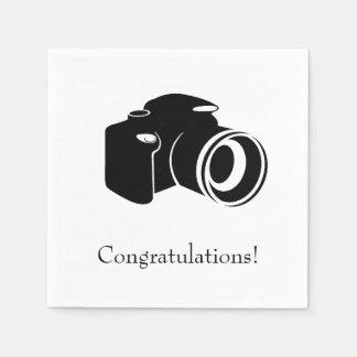 Schwarzweiss-Kamera-Glückwünsche Papierserviette