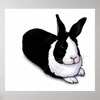 Schwarzweiss-Kaninchen Plakate