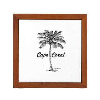 Schwarzweiss-Kap-Korallen- u. Palmenentwurf Stifthalter