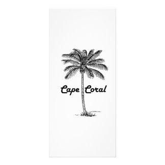 Schwarzweiss-Kap-Korallen- u. Palmenentwurf Werbekarte