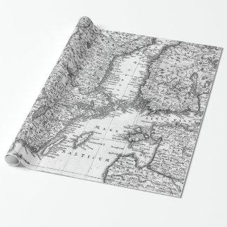 Schwarzweiss-Karte der Geschenkpapierrolle