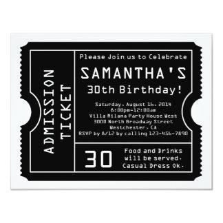 Schwarzweiss-Karten-Einladung, Digital-Art 10,8 X 14 Cm Einladungskarte