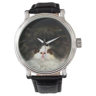 Schwarzweiss-Kätzchen Armbanduhr