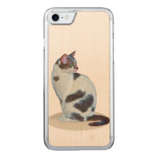 Schwarzweiss-Katze, Carved iPhone 8/7 Hülle