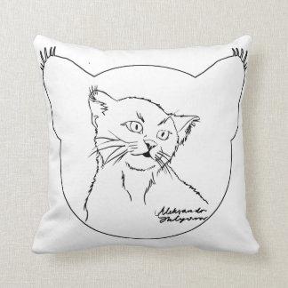 Schwarzweiss, Katze Kissen