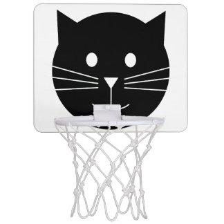 Schwarzweiss-Katzen-Basketballkorb Mini Basketball Ring