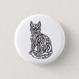 Schwarzweiss-Katzen-Knopf Runder Button 2,5 Cm