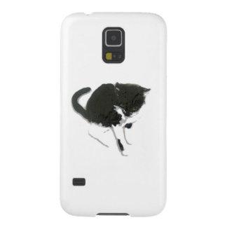 Schwarzweiss-Katzen-Kunst Galaxy S5 Hülle