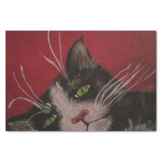 Schwarzweiss-KatzenSeidenpapier Seidenpapier