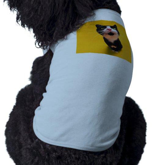 Schwarzweiss-KatzeSmoking Katzehaustier Ärmelfreies Hunde-Shirt