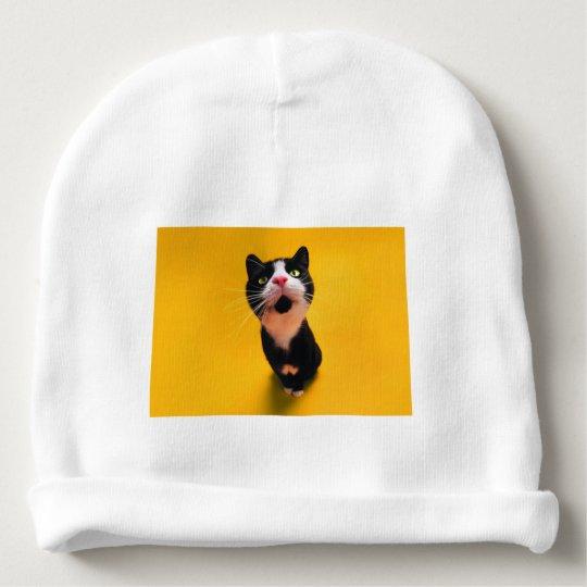 Schwarzweiss-KatzeSmoking Katzehaustier Babymütze