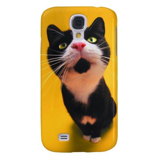 Schwarzweiss-KatzeSmoking Katzehaustier Galaxy S4 Hülle