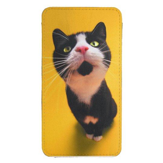 Schwarzweiss-KatzeSmoking Katzehaustier Galaxy S4 Tasche