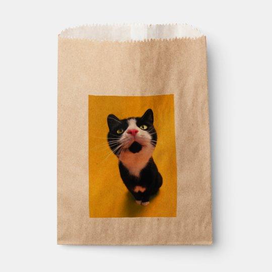 Schwarzweiss-KatzeSmoking Katzehaustier Geschenktütchen