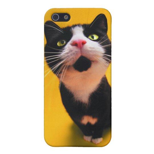 Schwarzweiss-KatzeSmoking Katzehaustier iPhone 5 Hüllen