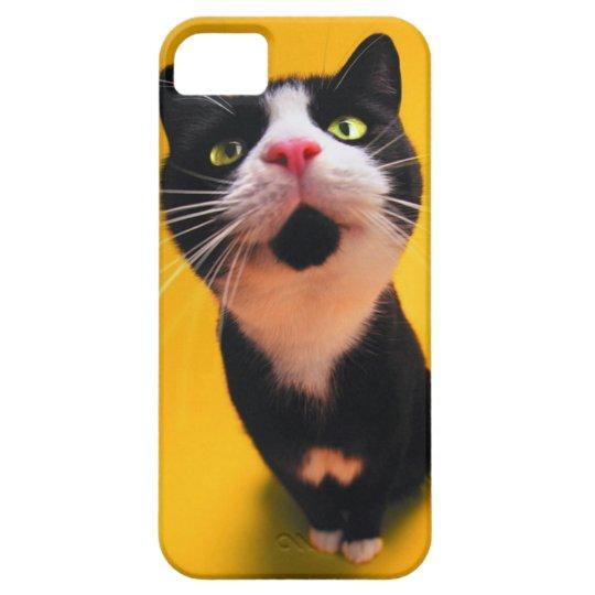 Schwarzweiss-KatzeSmoking Katzehaustier iPhone 5 Schutzhülle