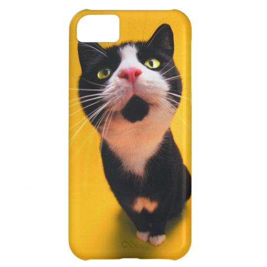 Schwarzweiss-KatzeSmoking Katzehaustier iPhone 5C Hülle