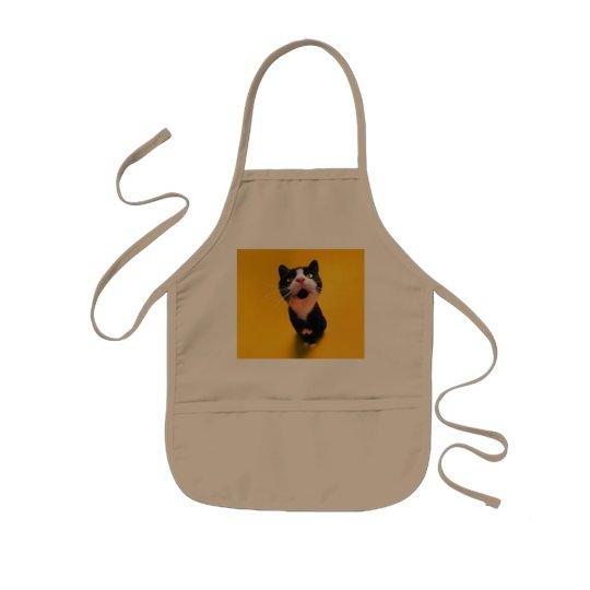 Schwarzweiss-KatzeSmoking Katzehaustier Kinderschürze