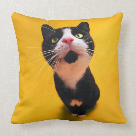 Schwarzweiss-KatzeSmoking Katzehaustier Kissen