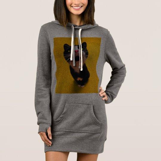 Schwarzweiss-KatzeSmoking Katzehaustier Kleid