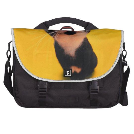 Schwarzweiss-KatzeSmoking Katzehaustier Laptop Tasche