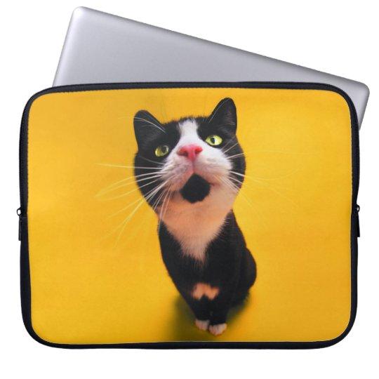 Schwarzweiss-KatzeSmoking Katzehaustier Laptopschutzhülle