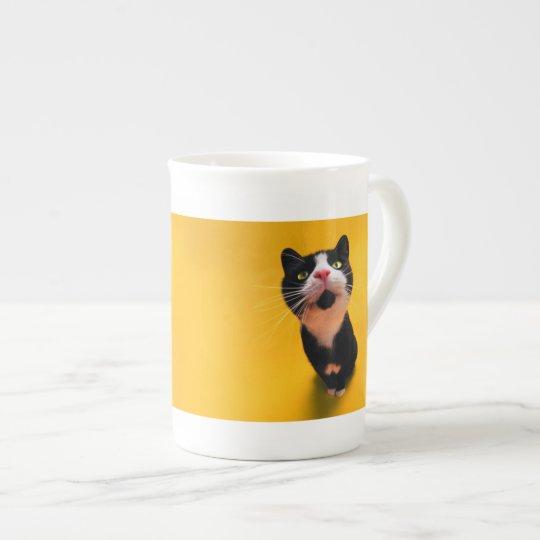 Schwarzweiss-KatzeSmoking Katzehaustier Porzellantasse