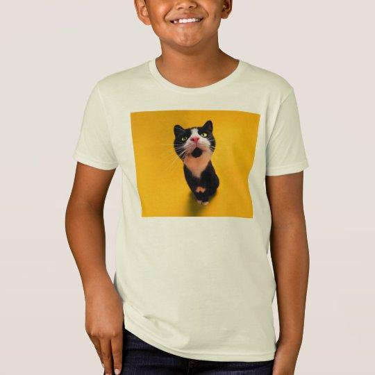 Schwarzweiss-KatzeSmoking Katzehaustier T-Shirt