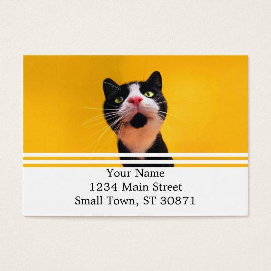 Schwarzweiss-KatzeSmoking Katzehaustier Visitenkarte