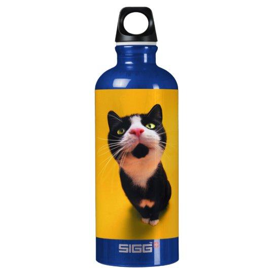 Schwarzweiss-KatzeSmoking Katzehaustier Wasserflaschen