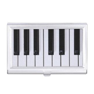 Schwarzweiss-Klavier befestigt Visitenkarte-Halter Visitenkarten Dose