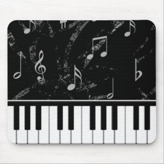 Schwarzweiss-Klavier-Musik-Mausunterlage Mauspads