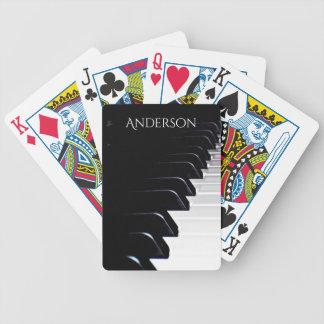 Schwarzweiss-Klavier-Musik-Spielkarten Bicycle Spielkarten