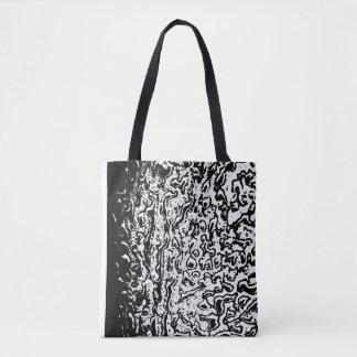 Schwarzweiss-Krater-strukturierte Stoff-Tasche Tasche