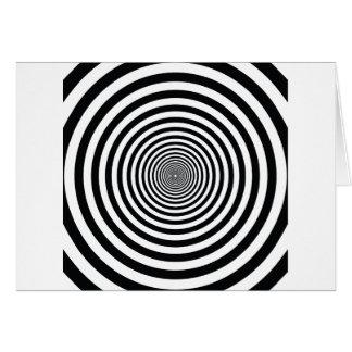 Schwarzweiss-Kreiskunst vo1 der schwindligen Karte