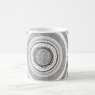 Schwarzweiss-Kreismuster-Entwurfs-Tasse Kaffeetasse
