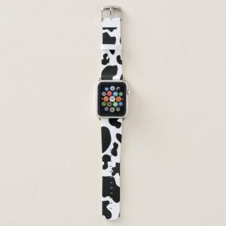 Schwarzweiss-Kuh Apple Watch Armband
