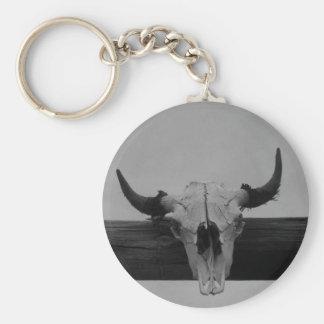 Schwarzweiss-Kuh-Schädel-Schlüsselkette Schlüsselanhänger