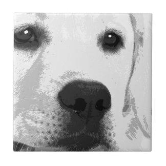 Schwarzweiss-Labrador retriever Keramikfliese