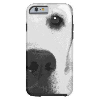 Schwarzweiss-Labrador retriever Tough iPhone 6 Hülle