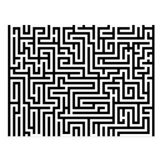 Schwarzweiss-Labyrinthlabyrinth Postkarte