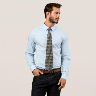 Schwarzweiss-Leopard-Druck-Krawatte Krawatten