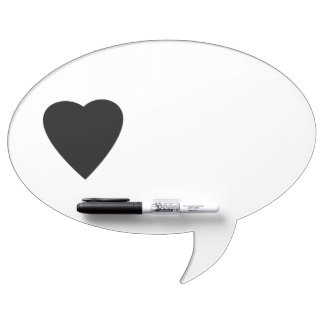 Schwarzweiss-Liebe-Herz-Entwurf Memo Boards