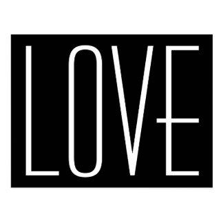 Schwarzweiss-Liebe Save the Date Postkarte