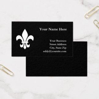 Schwarzweiss-Lilie Visitenkarte