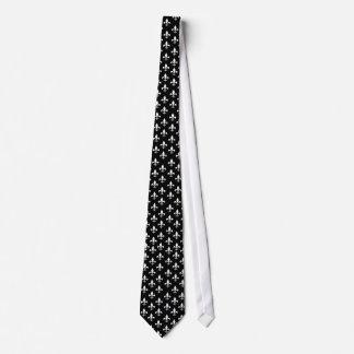 Schwarzweiss-Lilien-Muster Personalisierte Krawatten