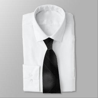 Schwarzweiss-Linien Krawatte