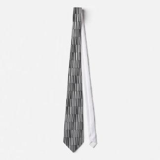Schwarzweiss-Linien Personalisierte Krawatten