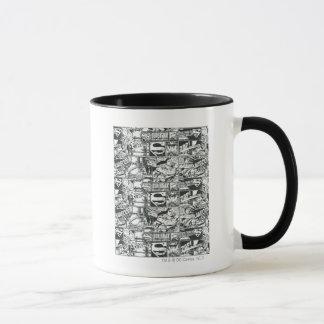 Schwarzweiss-Logos Tasse