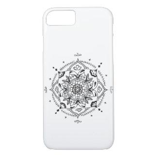 Schwarzweiss-Mandala iPhone 8/7 Hülle